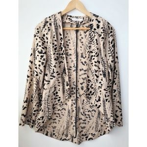 Nordstrom Lush M Tan & Black Animal Print Blazer